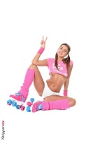 Melena Maria Rya is Roller Girl at iStripper.