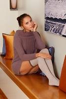 Porn superstar in knee socks.