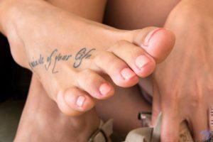 Beautiful toes, close up.