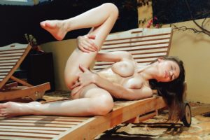 Mila fingering pussy.