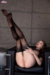 Elena Koshka in stockings.
